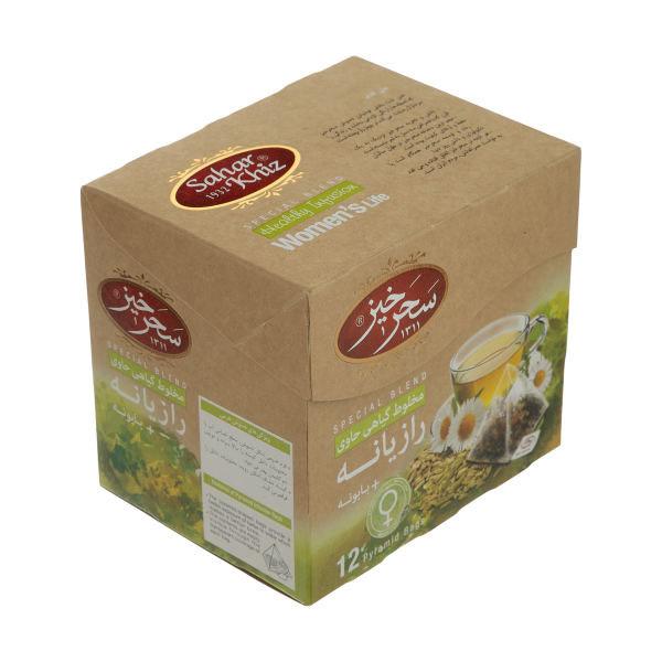 دمنوش مخلوط گیاهی رازیانه و بابونه سحر خیز  - 12 عددی