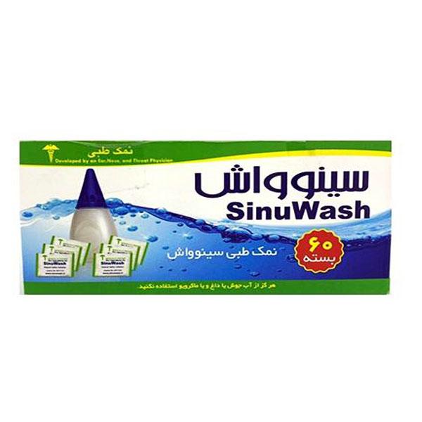 نمک طبی سینوواش مدل nasal wash بسته 60 عددی