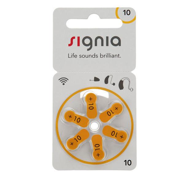 باتری سمعک سیگنیا کد 10 بسته 6 عددی