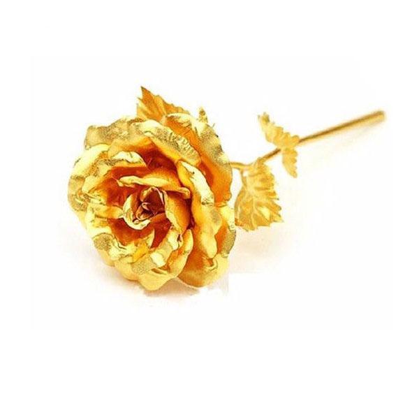 گل مصنوعی مدل گلدن رز  طلایی