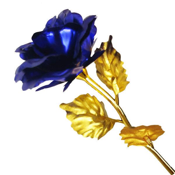 گل مصنوعی مدل blue rose سرمه ای