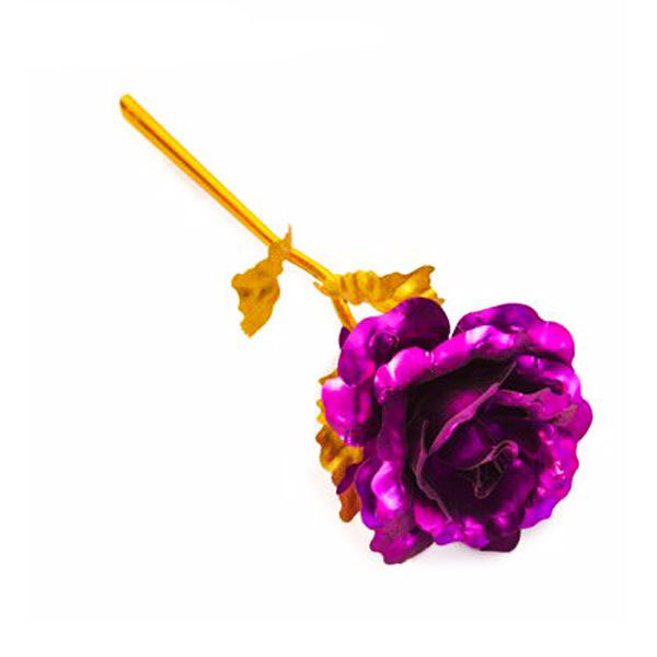 گل مصنوعی مدل violet rose  بنفش