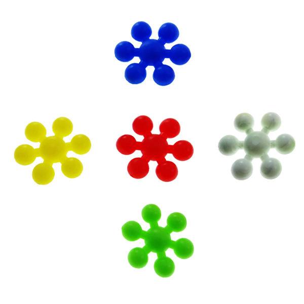 دکوری مدل دانه برف رنگی بسته 5 عددی