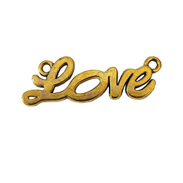 قطعات ساخت زیورآلات طرح love کد 10