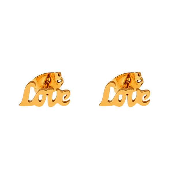 گوشواره زنانه مدل عشق کد 17
