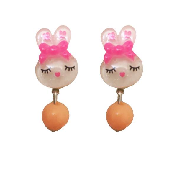 گوشواره دخترانه مدل خرگوش خانم کد 11
