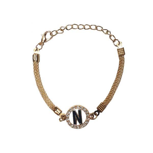 دستبند دخترانه مدل N کد 04
