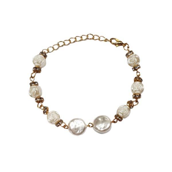 دستبند زنانه طرح گل رز کد 03