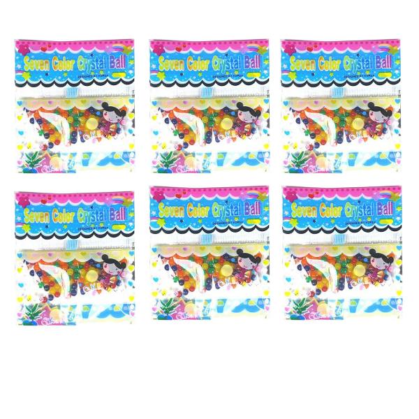 خاک ژله ای کریستالی مدل Seven Color بسته 6 عددی