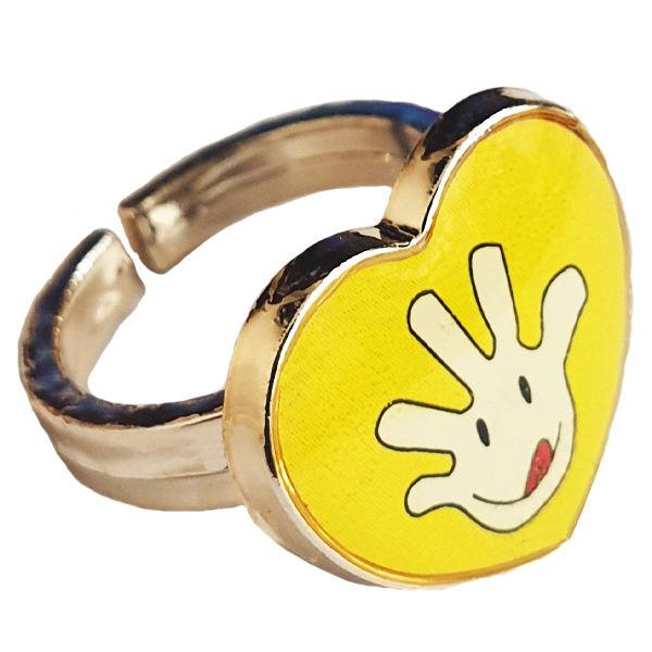 انگشتر دخترانه طرح استیکر کد 026