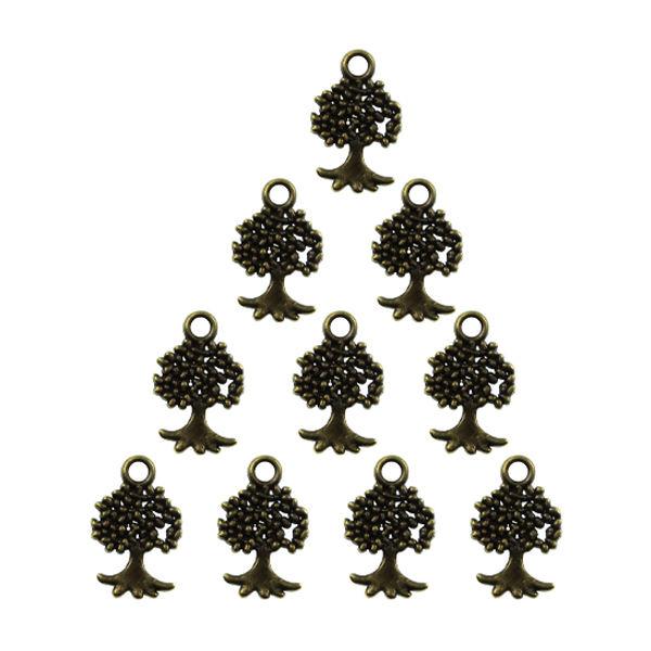 آویز دستبند و گردنبند مدل درخت کد AD 116 مجموعه 10 عددی