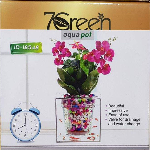 آکواریوم سون گرین طرح گلدان مدل 1026